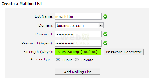 Create a Mailing List