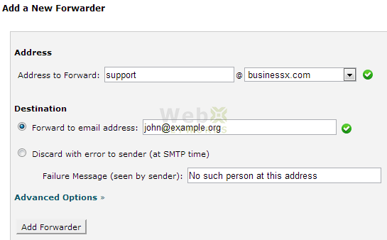 Add Email Forwarding