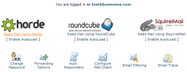 Webmail Choices Horde RoundCube SquirrelMail