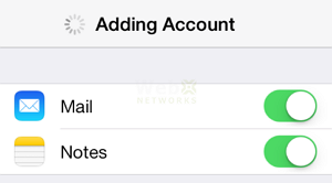 Adding Account on iPhone