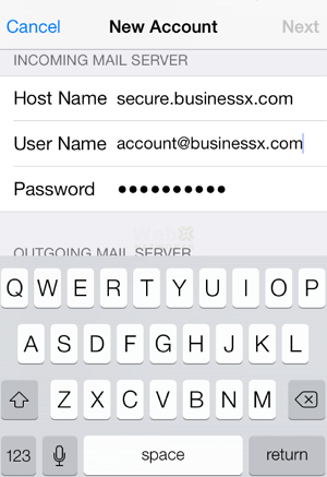 Incoming Mail Server for iPhone