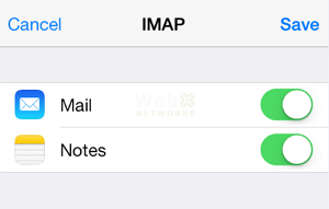 Save Email Account in iPhone